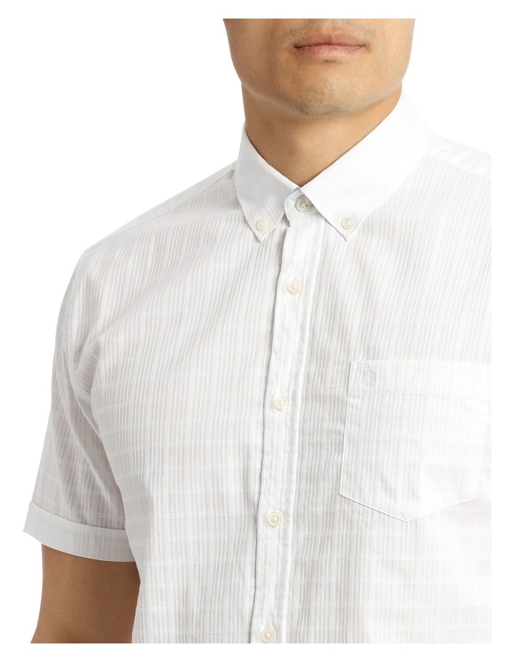 Short Sleeve Lindeman Textured Plain Shirt image 4
