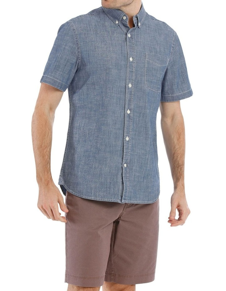 Miller Button Down Chambray Short Sleeve Shirt image 1