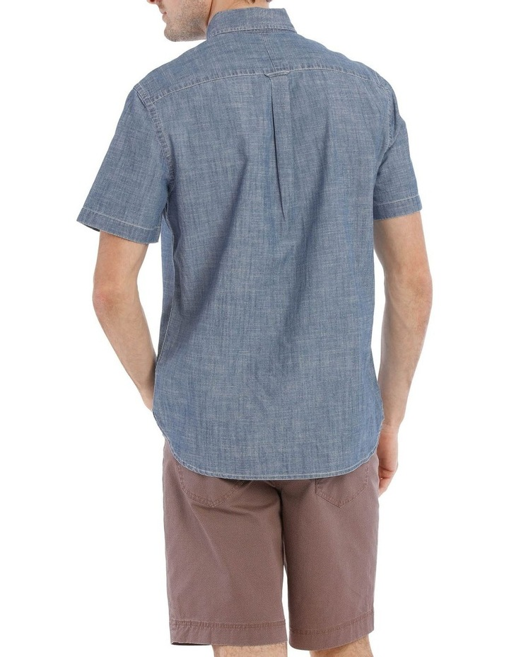 Miller Button Down Chambray Short Sleeve Shirt image 3