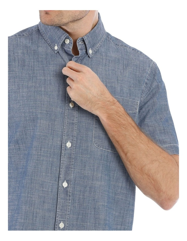 Miller Button Down Chambray Short Sleeve Shirt image 4