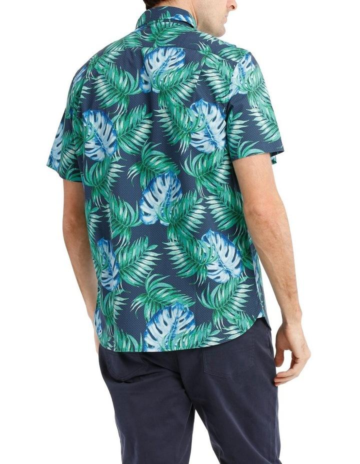 Belize Tropical Leaf Print Short Sleeve Shirt image 3