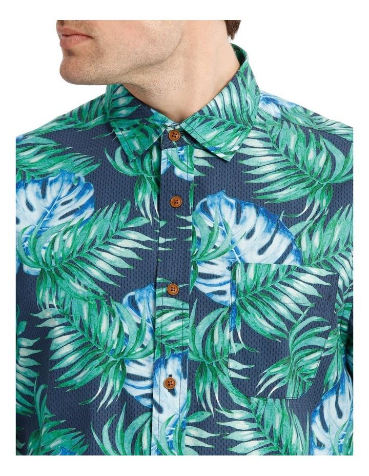 Belize Tropical Leaf Print Short Sleeve Shirt image 4