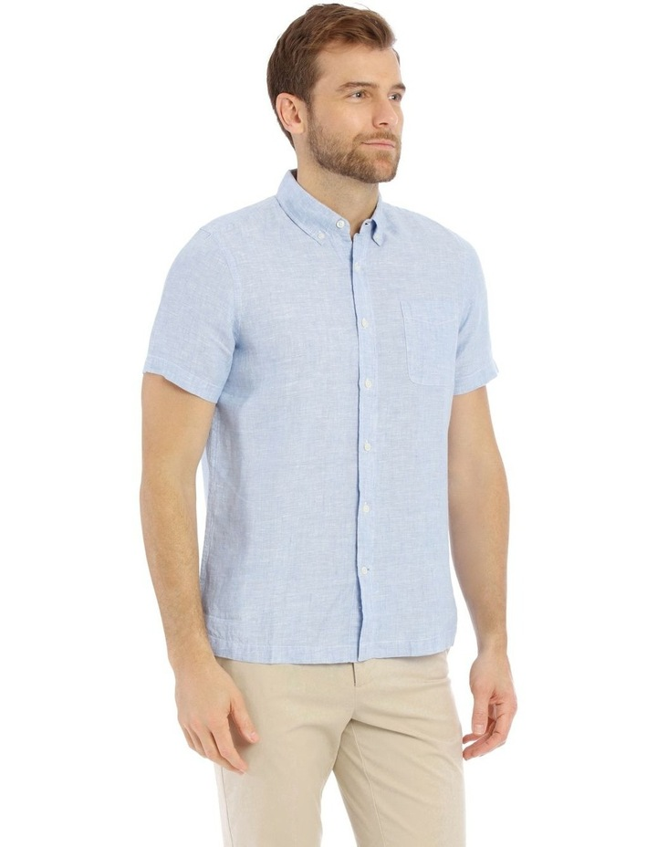 Bodega Linen Button Down Short Sleeve Shirt image 2