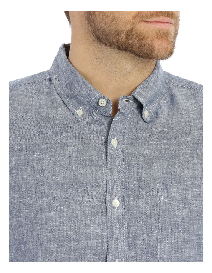 Bodega Linen Button Down Short Sleeve Shirt image 4