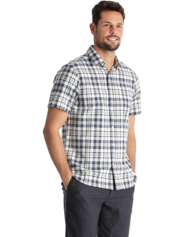 Canteen Slub Check Short-Sleeve Shirt - Green image 2