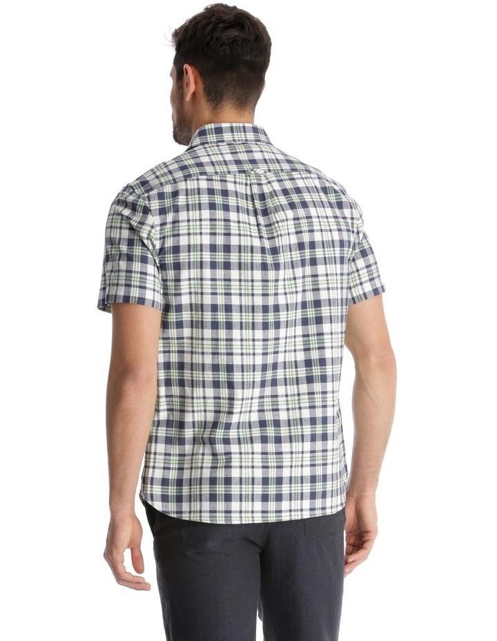 Canteen Slub Check Short-Sleeve Shirt - Green image 3