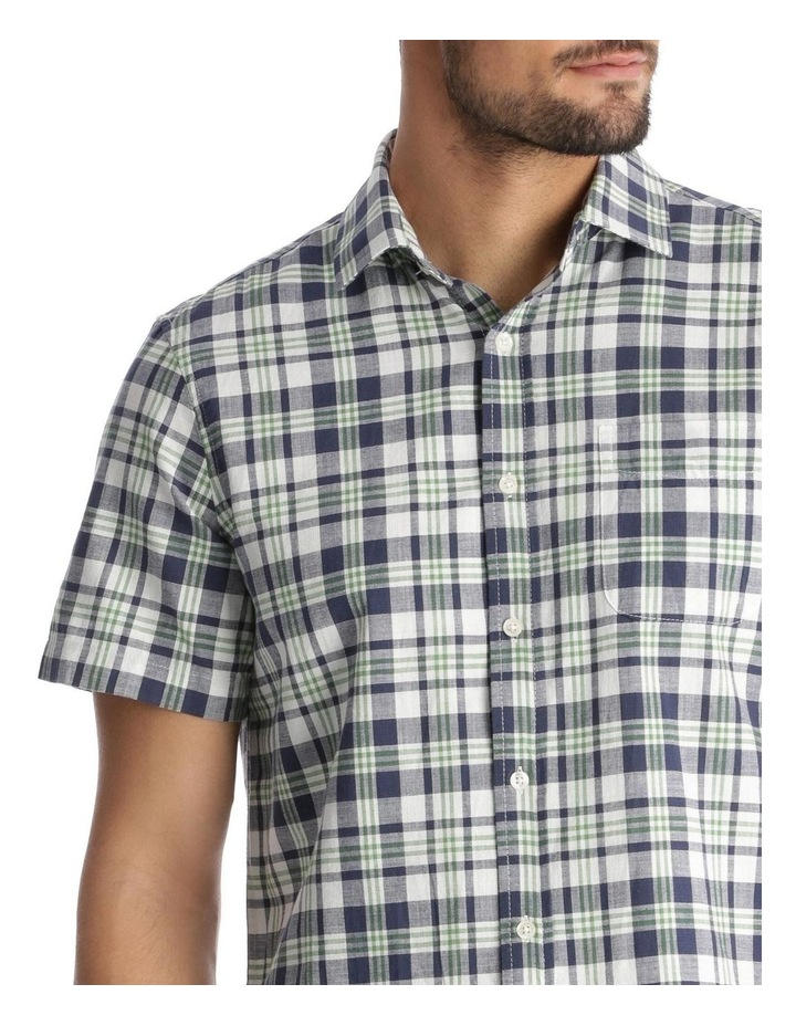 Canteen Slub Check Short-Sleeve Shirt - Green image 4