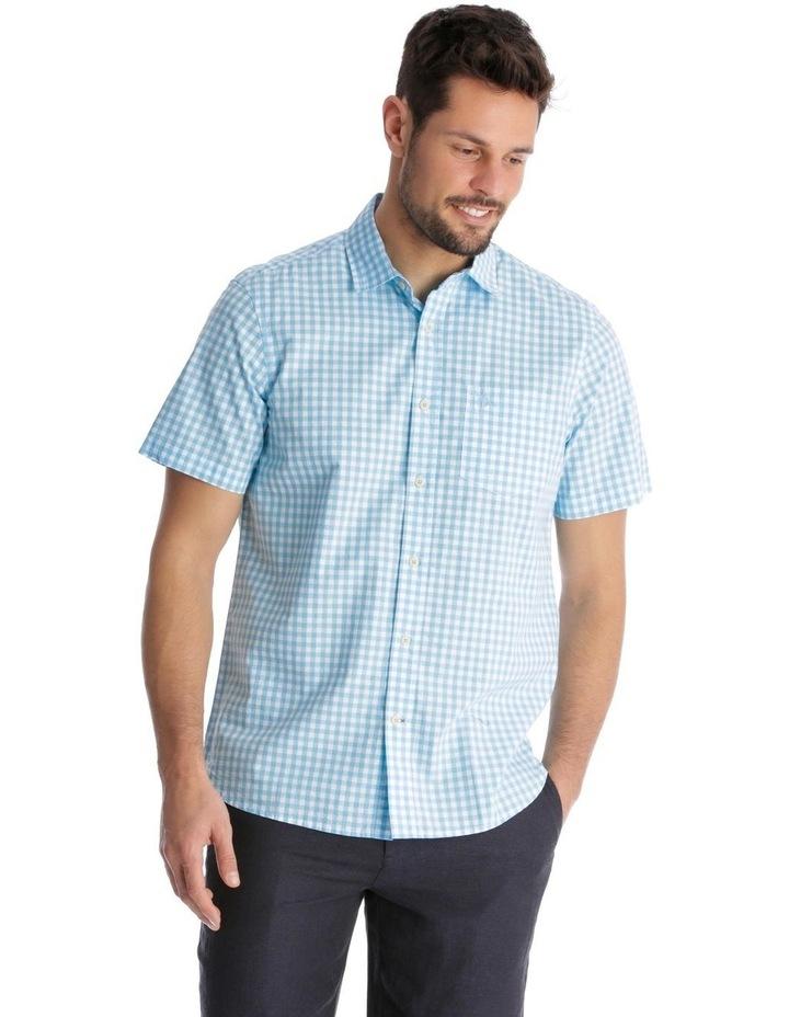 Fremantle Gingham Short-Sleeve Check Shirt - Blue image 1