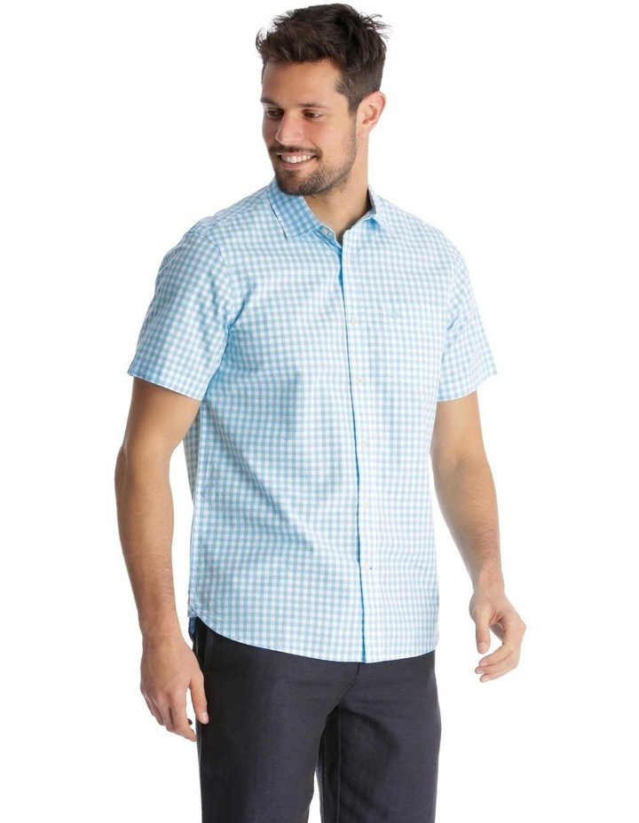 Fremantle Gingham Short-Sleeve Check Shirt - Blue image 2