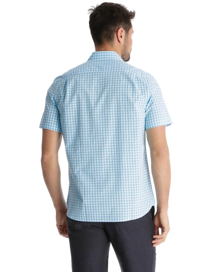 Fremantle Gingham Short-Sleeve Check Shirt - Blue image 3