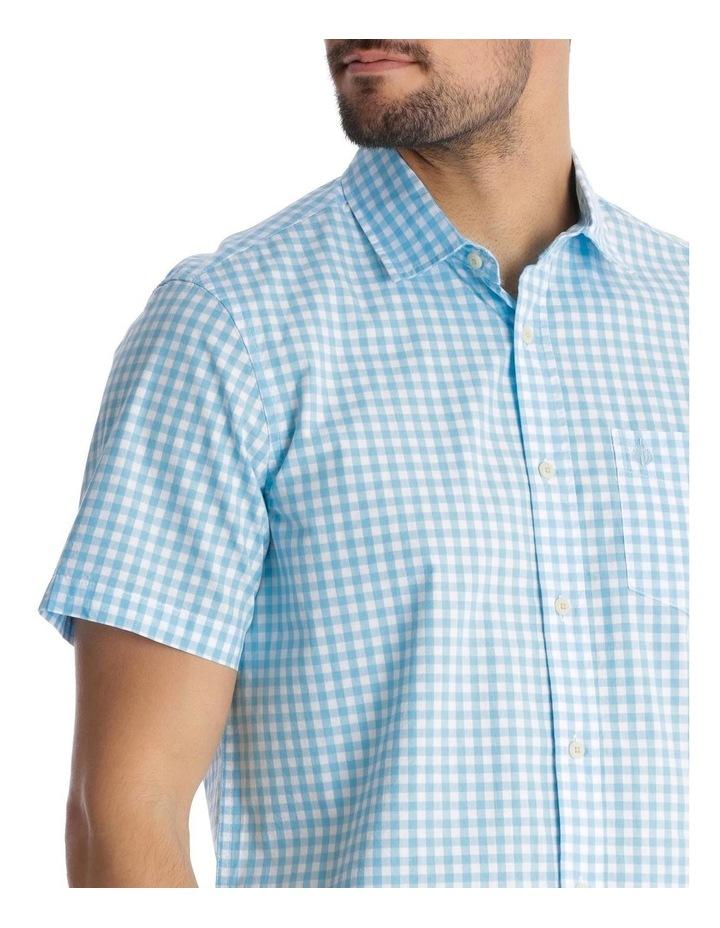 Fremantle Gingham Short-Sleeve Check Shirt - Blue image 4