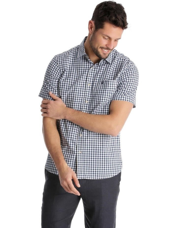 Fremantle Gingham Short-Sleeve Check Shirt - Navy image 1