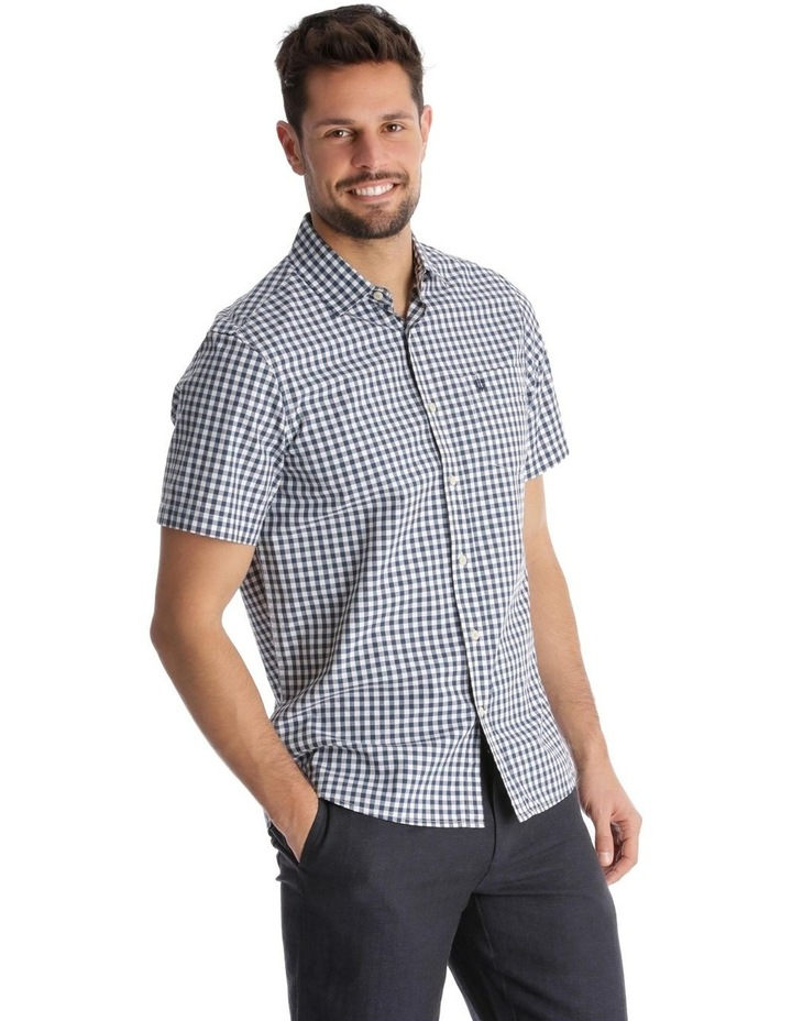 Fremantle Gingham Short-Sleeve Check Shirt - Navy image 2