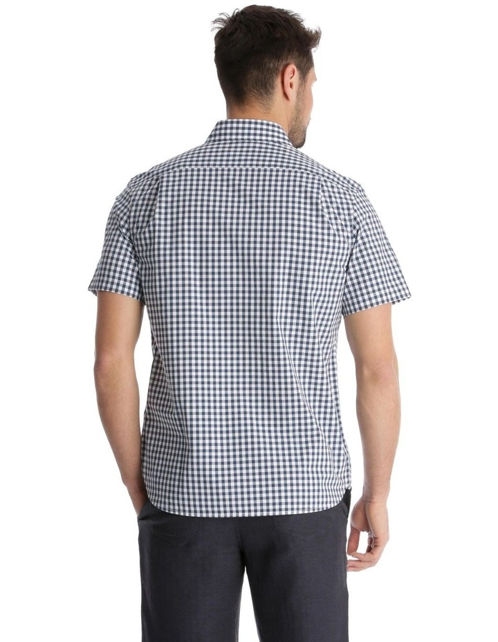 Fremantle Gingham Short-Sleeve Check Shirt - Navy image 3