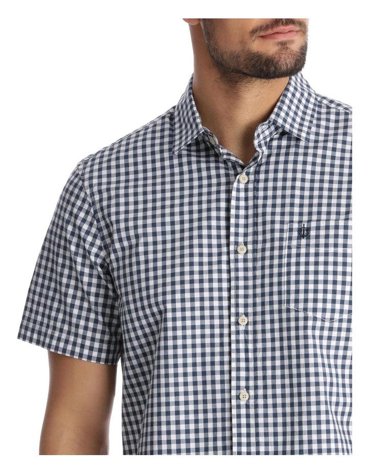 Fremantle Gingham Short-Sleeve Check Shirt - Navy image 4