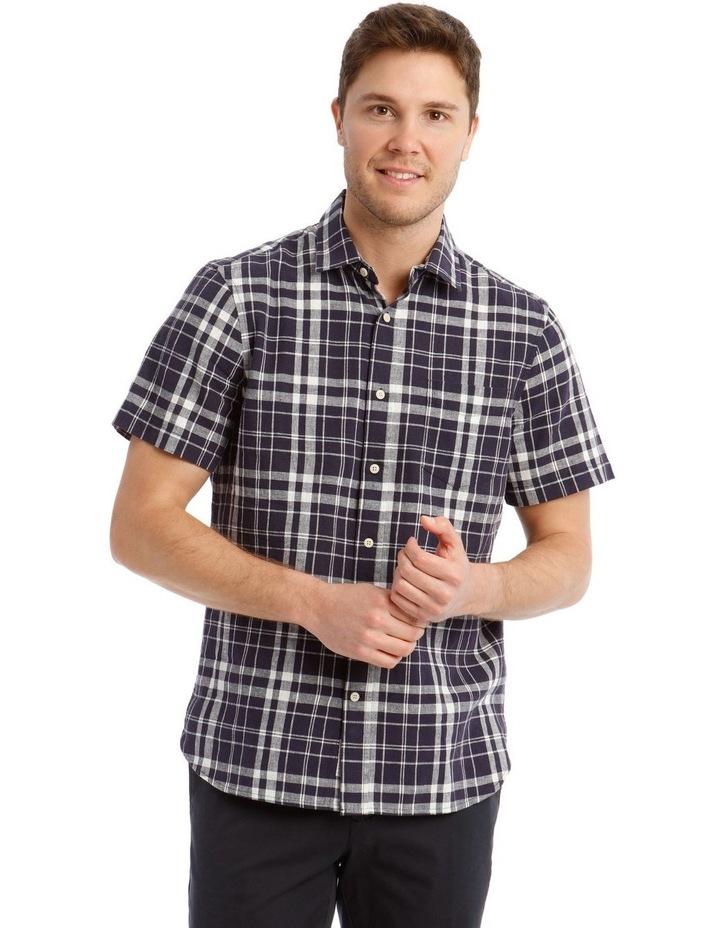 Anglesea Check Linen Blend Short Sleeve Shirt image 1