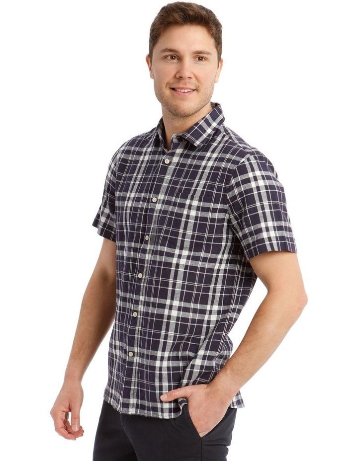 Anglesea Check Linen Blend Short Sleeve Shirt image 2