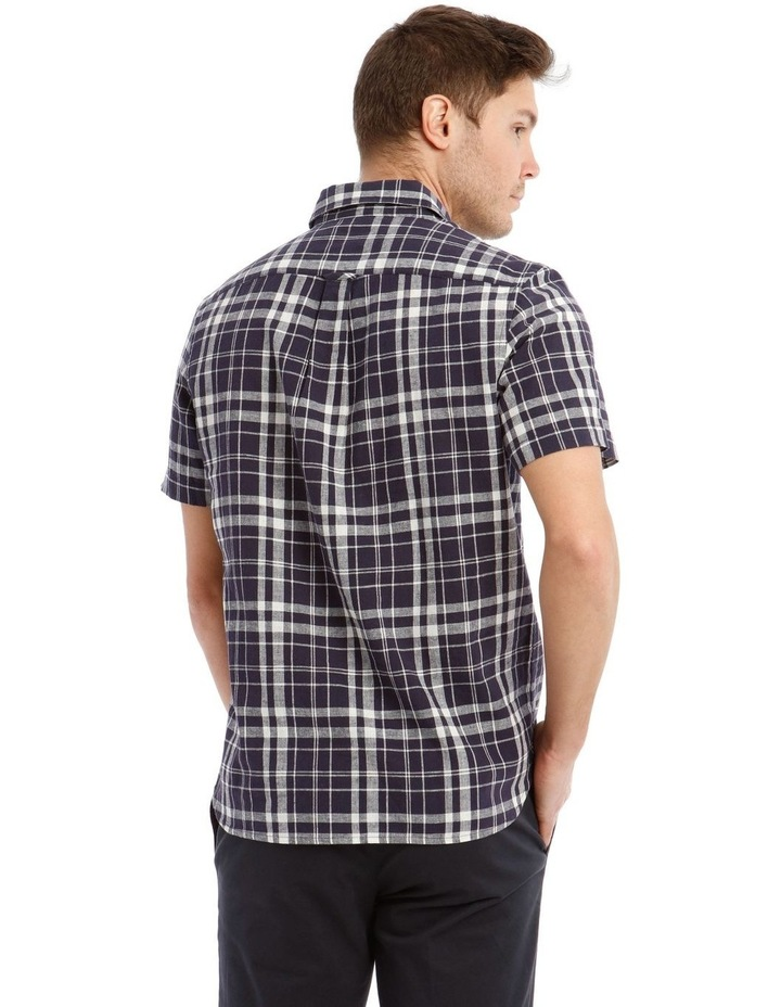 Anglesea Check Linen Blend Short Sleeve Shirt image 3