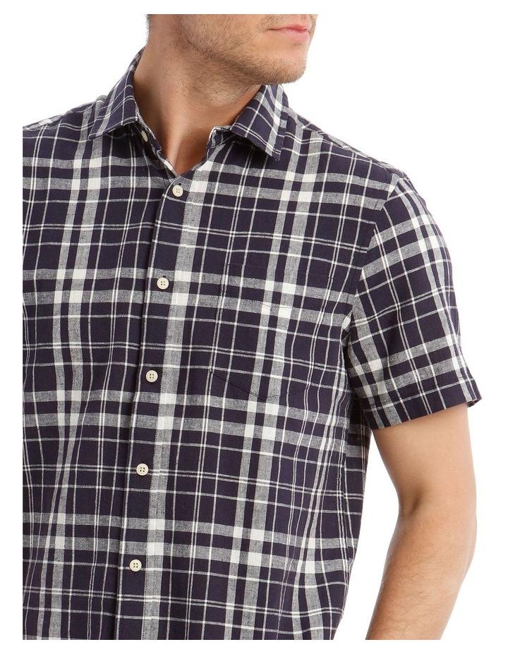 Anglesea Check Linen Blend Short Sleeve Shirt image 4