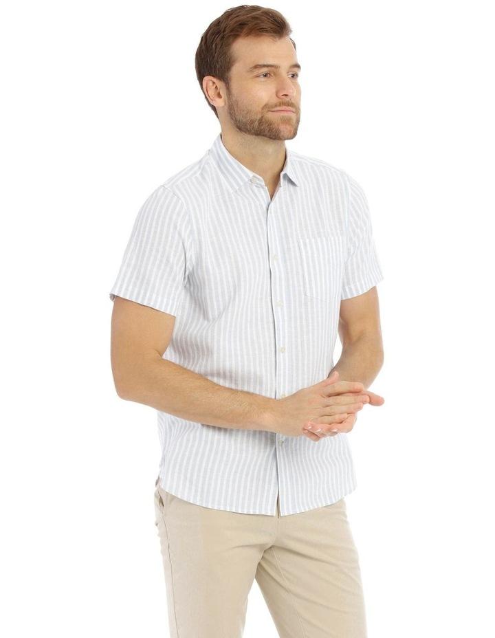 Maroubra Stripe Short-Sleeve Shirt - Light Blue image 2