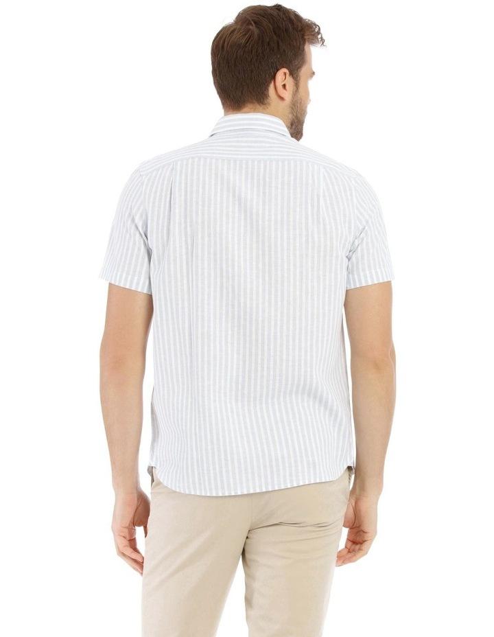 Maroubra Stripe Short-Sleeve Shirt - Light Blue image 3
