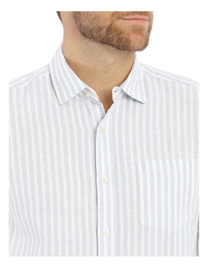Maroubra Stripe Short-Sleeve Shirt - Light Blue image 4