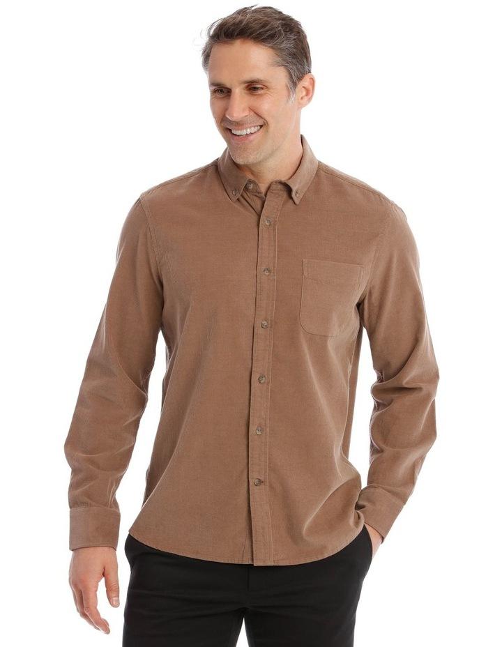 Warner Corduroy Long-Sleeve Shirt In Camel image 1