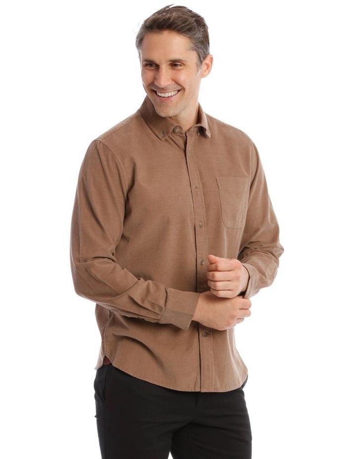 Warner Corduroy Long-Sleeve Shirt In Camel image 2