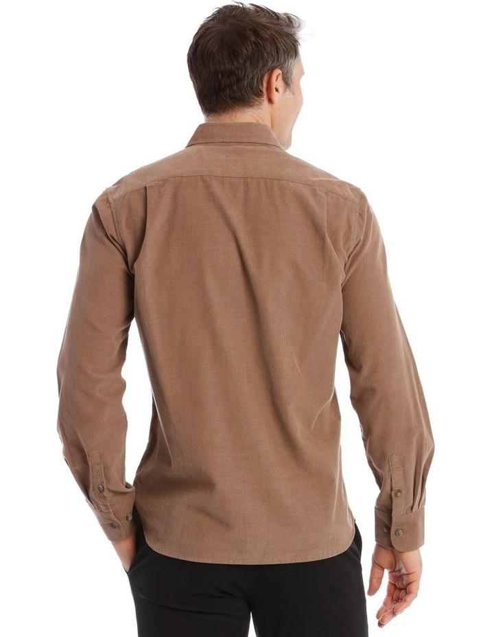 Warner Corduroy Long-Sleeve Shirt In Camel image 3