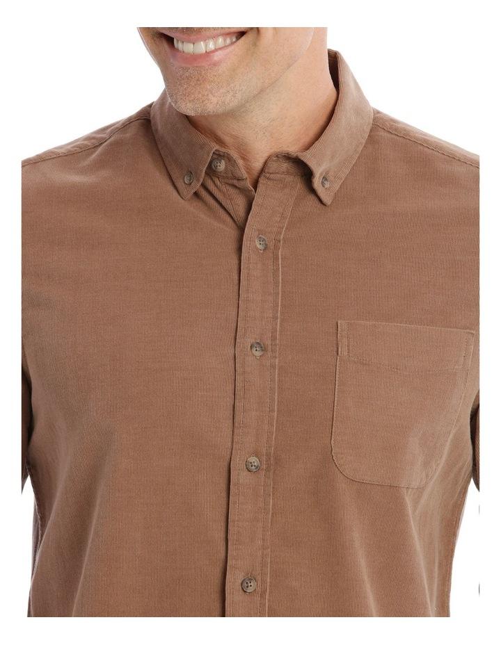 Warner Corduroy Long-Sleeve Shirt In Camel image 4