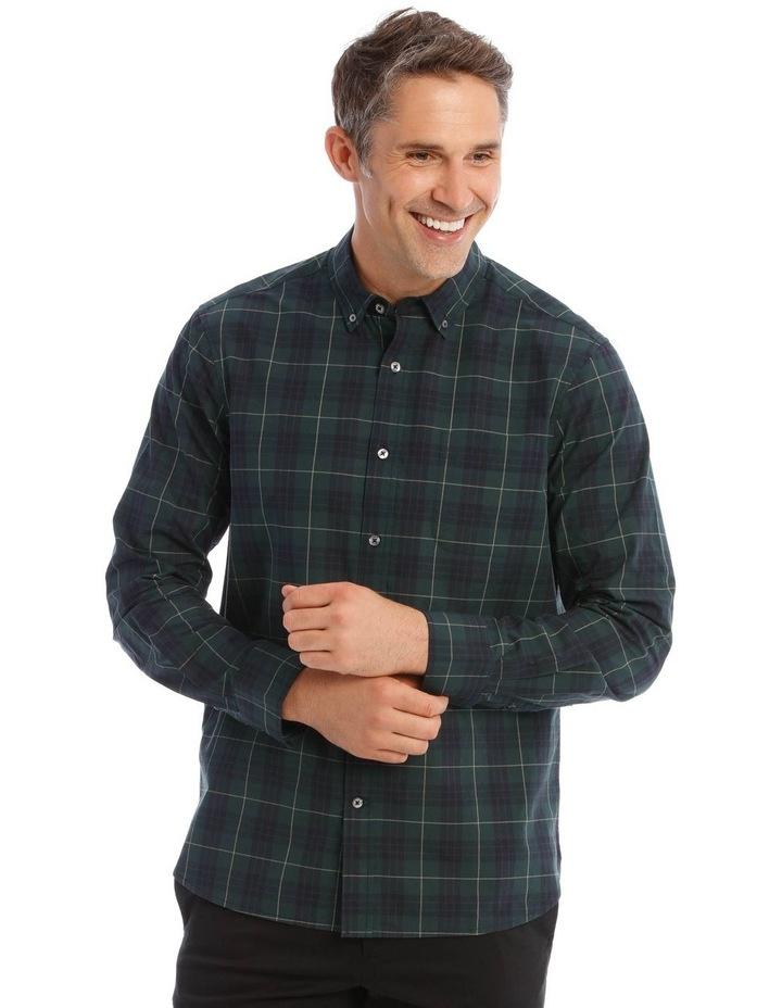 Milford Tartan Long-Sleeve Shirt In Green image 1