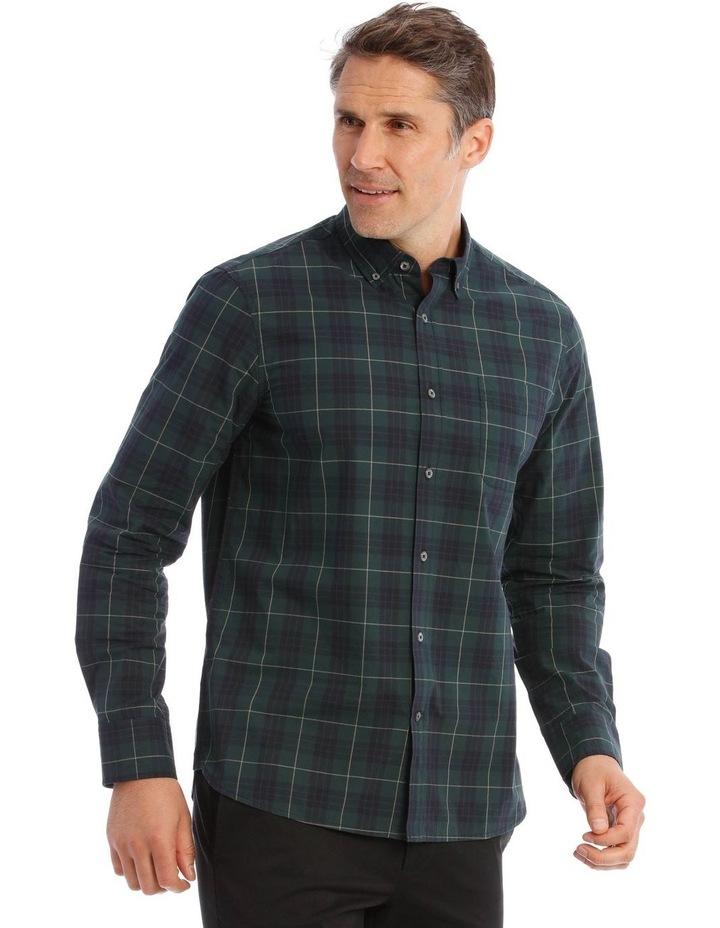 Milford Tartan Long-Sleeve Shirt In Green image 2