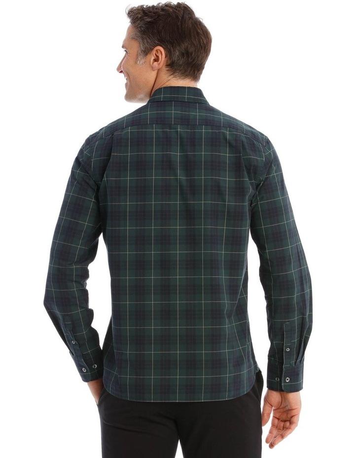 Milford Tartan Long-Sleeve Shirt In Green image 3