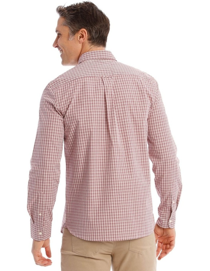 Dean Mini Check Long-Sleeve Shirt In Red image 3