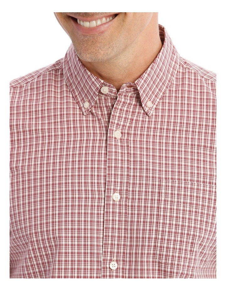 Dean Mini Check Long-Sleeve Shirt In Red image 4