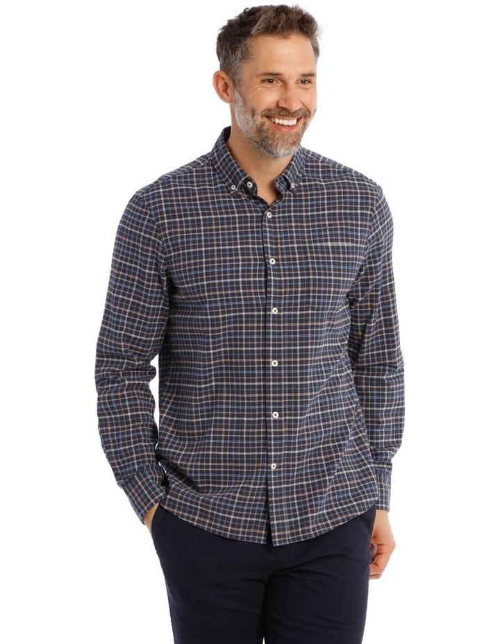 Ardwick Brushed Check Herringbone Long Sleeve Shirt image 1