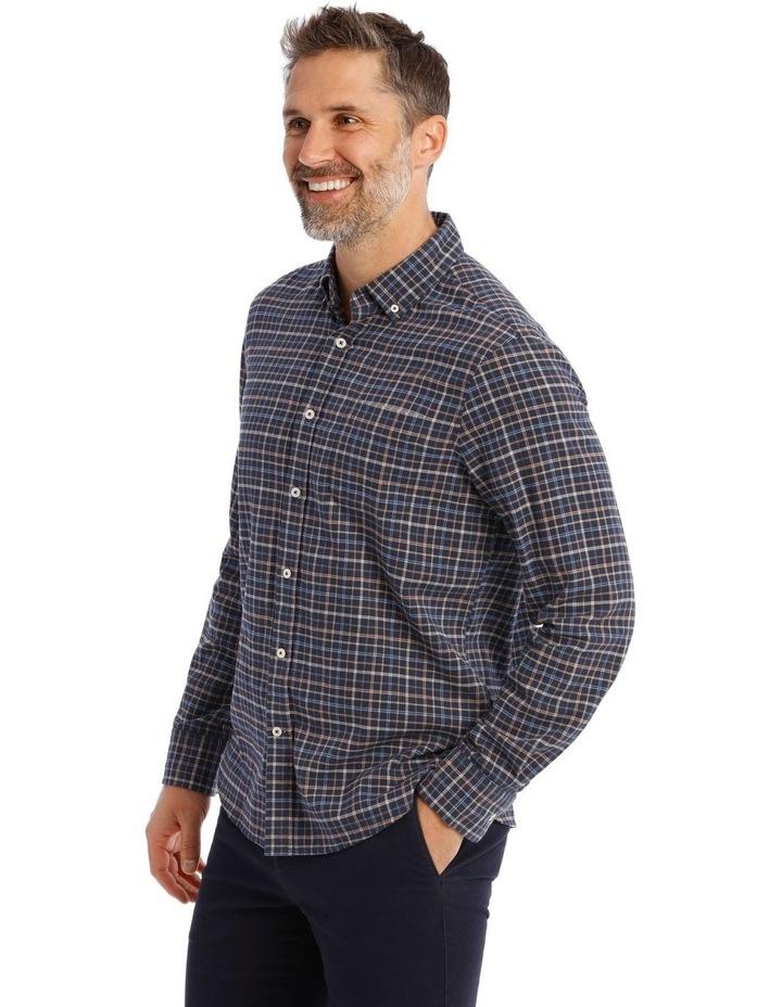 Ardwick Brushed Check Herringbone Long Sleeve Shirt image 2