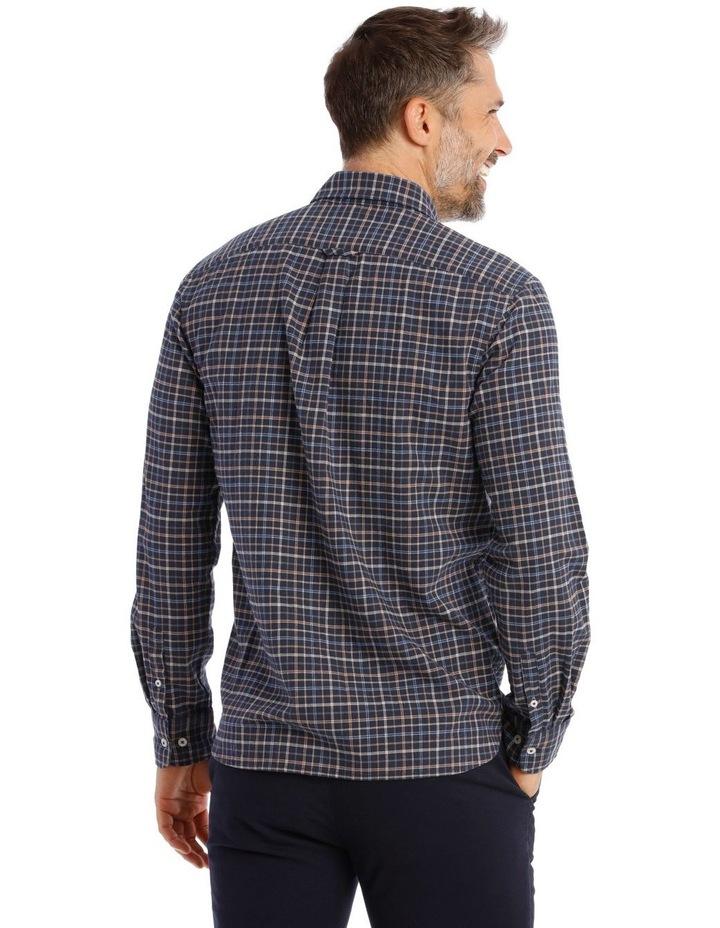 Ardwick Brushed Check Herringbone Long Sleeve Shirt image 3