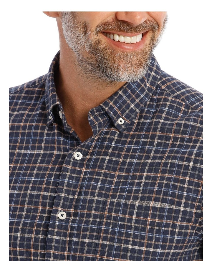 Ardwick Brushed Check Herringbone Long Sleeve Shirt image 4