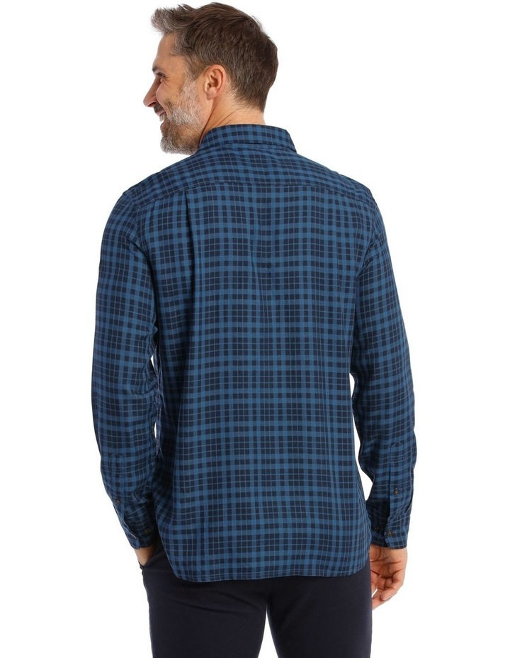 Fairfield Gingham Soft Touch Check Long Sleeve Shirt image 3