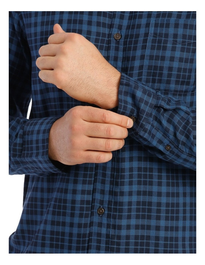 Fairfield Gingham Soft Touch Check Long Sleeve Shirt image 4