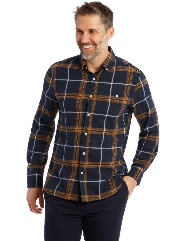 Castleton Brushed Check Twill Long Short Shirt image 1