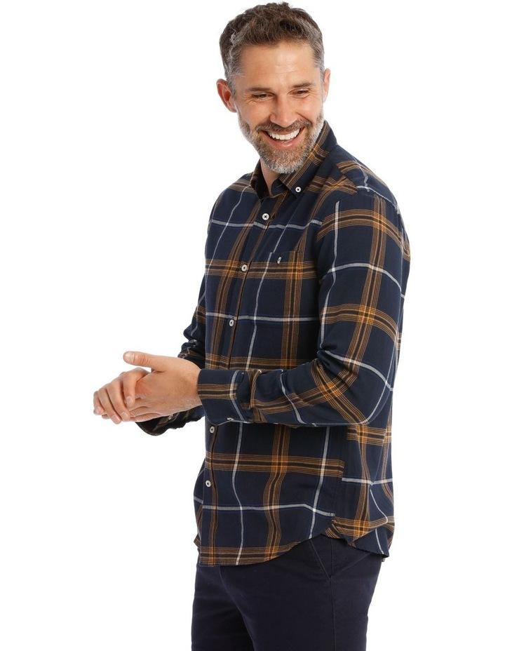 Castleton Brushed Check Twill Long Short Shirt image 2