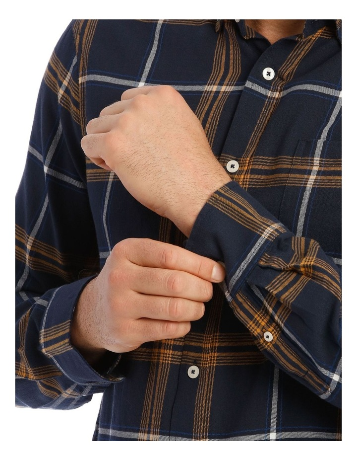 Castleton Brushed Check Twill Long Short Shirt image 4