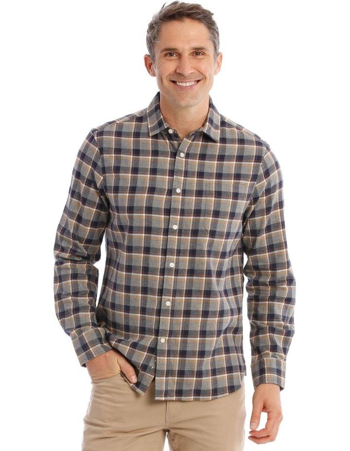 Ceder Brushed Twill Long-Sleeve Check Shirt image 1