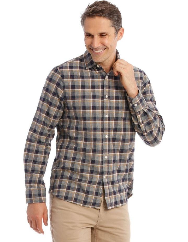 Ceder Brushed Twill Long-Sleeve Check Shirt image 2