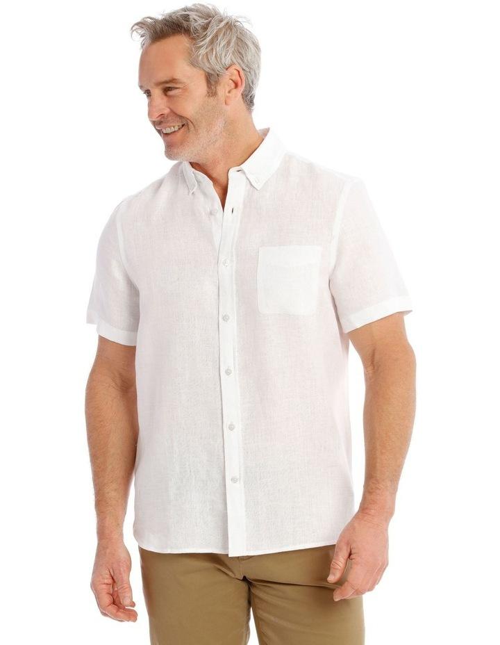 Bodega Linen Button Down Short Sleeve Shirt image 1