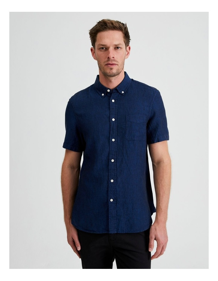 Bodega Linen Button Down Short Sleeve Shirt image 1