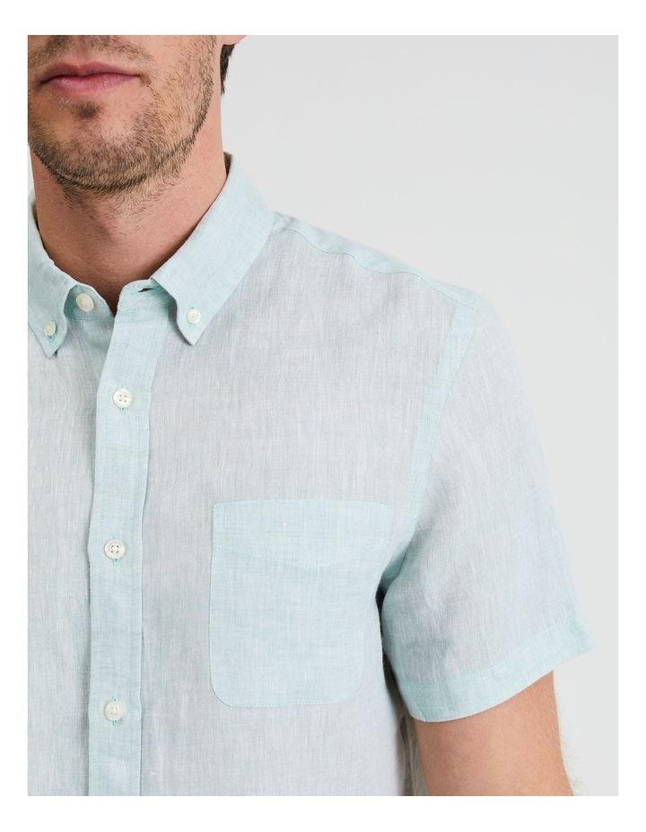 Bodega Linen Button Down Short Sleeve Shirt image 5