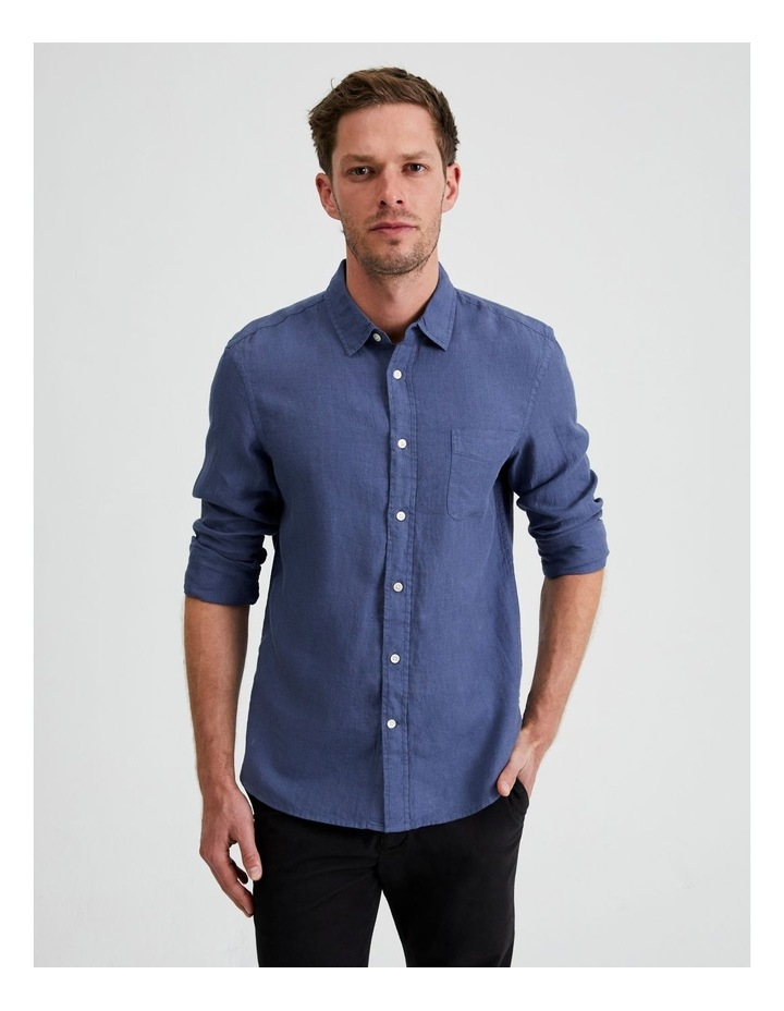 Bodega Linen Regular Collar Long Sleeve Shirt image 2